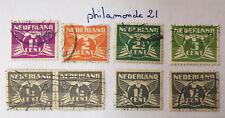 lot Timbres Pays Bas oblitérés. YT 165( paire), 168/170, 276 1924/1935.