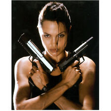 Lara Croft Tomb Raider Angelina Jolie Holding Guns Crossed 8 x 10 Inch Photo