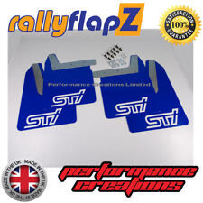 Qty4 Mud Flaps & Fixings SUBARU IMPREZA New Age 01-07 4mm PVC Blue STi White