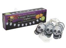 130cm LED Halloween 10 Ampoule creepy Squelette Crânes Trick or Treat partie lumières