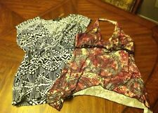 Super SEXY CLUB SUMMER TOPS LOT OF 2 FOREVER 21 LE KHAKI Pink/brn Embellished M