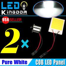 2PCS White High Power 48 COB LED RV Car Interior Panel lights 1156 BA15S Adapter
