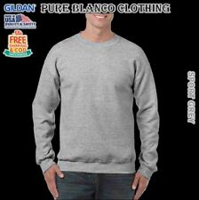 Sale Gildan Sport Grey Adult Crewneck Sweatshirt Plain Hoodie Blank Hoodie