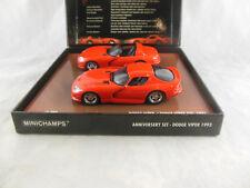 Rare Minichamps 436 144000 Dodge Viper 1993 - 2003 10th Anniversary Set in Red