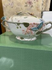 New Fitz And Floyd Wedding Butterfly Fields Soup Tureen Serving Dish