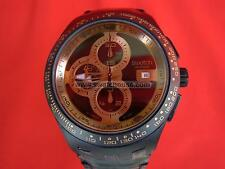 SWATCH CHRONO AUTOMATIC RIGHT TRACK SUNSET  - 2010 - SVGB402 - DIAPHANE - NEW