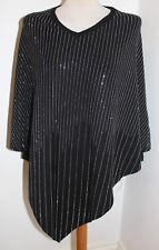 Black Frank Usher Raining Crystal Knitted Poncho Top - one size & BNWOT