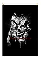 Zombie Skull Kill Flag Free Shipping 3X5 90x150cm