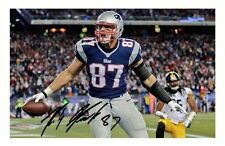 ROB GRONKOWSKI - NEW ENGLAND PATRIOTS AUTOGRAPHED SIGNED A4 PP POSTER PHOTO
