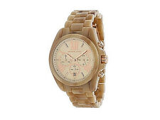 NIB Michael Kors Women's Watch Bracelet Rose Gold & Horn BRADSHAW MK5840 $250