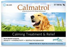 Calmatrol PET OTC Dog Separation Anxiety & Calming Meds - Vet Approved De-Stress