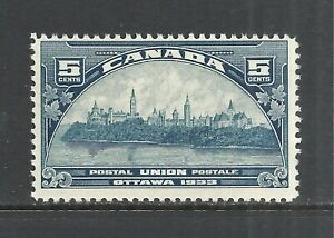 CANADA SCOTT 202 MH FINE - 1933 5c DARK BLUE OTTAWA ISSUE   CV $10.00