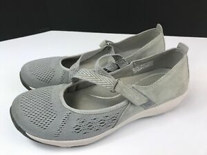 $85 Dansko Haven Size 38 EU Mary Jane Flat Gray Suede Comfort Shoes Adjustable