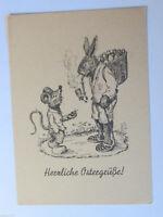 """""""Ostern, Vermenschlichter Hase, Osterhase, Ostereier, Maus"""" 1945 ♥ (33170)"""