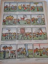 1898 Original Print Caricature Images pour les enfants