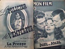 "MON FILM 1949 N 131 "" DUEL AU SOLEIL "" GREGORY PECK JENNIFER JONES JOSEPH COTTEN"