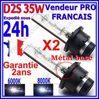 2 AMPOULE en D2S XENON 35W PAIRE LAMPE FEUX HID 85122+ au 6000K 8000K