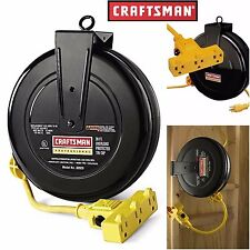 Craftsman Electrical Cord Reel 30 ft Electric Pro Retractable Extension 14 Gauge