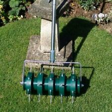 GreenKey Rolling Lawn Grass Aerator Perfect Lawns Encourages Deep Root Growth