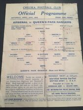 At Chelsea: Arsenal V Queen's Park Rangers 24/04/1943 War Cup South Semi-Final