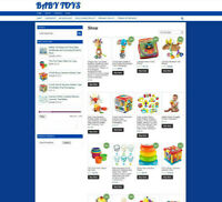 BABY TOYS ONLINE STORE 1 Years Hosting + Domain + uk affiliate