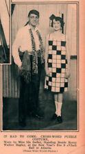 1925 A PRINT PHOTO   CROSSWORD PUZZLE DRESS IDA SADLER HENRY BAGLEY ATLANTA