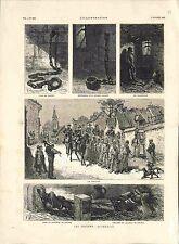 Prisons Cachots Fer de Poncet La Chaine Prisonniers Gendarmerie GRAVURE 1882