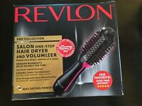 Revlon PRO Collection Salon One Step Hair Dryer Volumizer Brush Pink 1100 Watt