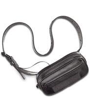 DKNY logo twill coated women's belt bag/Fanny pack -Black -S M L