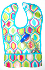 Colorful Baby Toddler Pocket Bib & Sippy Cup Usa Seller!