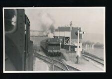 Somerset AXBRIDGE Railway Station steam engine #9729 photograph 1960