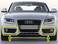 Genuine AUDI A5 (2008-2012) Front Bumper Fog Light Grill SET LEFT+RIGHT+CHROME