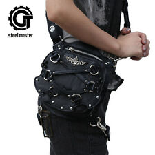 Punk Gothic Small Waist Fanny Packs Women Pu Leather Holster Bag Shoulder Bags