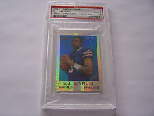 E.J. Manuel ROOKIE CARD 2013 Topps CHROME (1959 Mini-Prism ) REFRACTOR S/N 16/50