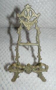 Porte photo chevalet métal doré