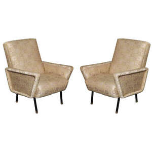 Pair of Arm Chairs,1960, Italy