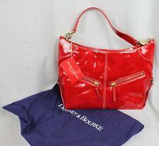 Dooney & Bourke Handbag Purse Cinzia Bag Medium Red Patent Leather $295 New NWT
