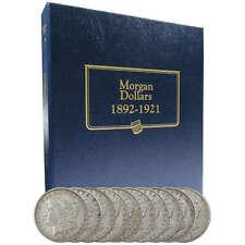 1892-1921 Morgan Dollar 10 Coin Set VF Very Fine 90% Silver $1 US with Album