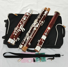 Professional Heckel system Maple Bassoon Silver Plated C key High D E New Case