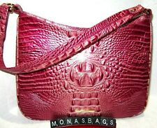 Brahmin Noelle Lotus Pink Melbourne Embossed Leather Shoulder Hobo Bag NWT $265