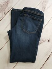 Indigo Blue Maternity Jeans Dark Wash Secret Belly Band Petite PXS Inseam 28""