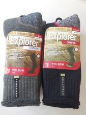 Explorer 4/ 8 Pack NEW STOCK Mens Copper Tough Work Wool Socks size 6-10