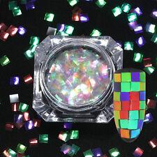 1g Nail Glitter Sequins Colorful Nail Art Flakes Square Paillette Born Pretty