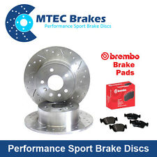 BMW E36 316i 08/94-01/01 Front Drilled & Grooved Brake Discs & Brembo Pads
