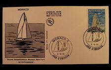 MONACO PREMIER JOUR FDC YVERT  1488      CATAMARAN        4F        1985