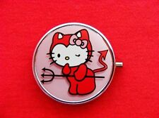 HELLO DEVIL KITTY CAT ROUND METAL PILL MINT BOX CASE