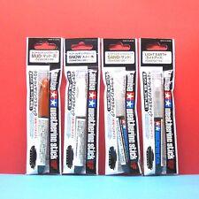 Tamiya Weathering Stick [water base type] (#87081, 87082, 87086, 87087) 4pcs Set