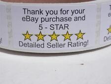 Thank You Sticker Label for eBay Purchase & 5 Star DSR 1x2 sticker label  500/rl