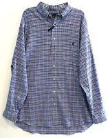 Polo Ralph Lauren Big Tall Mens 2XLT Blue Plaid Button-Front Shirt NWT 2XLT