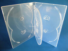 NEW! 5 Premium 6-Disc DVD Case 14mm Clear - Holds 6 discs - Six